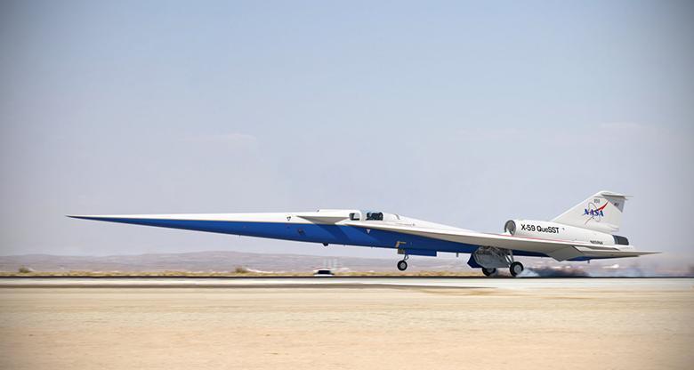 فراوری نهایی جت فراصوت و بی صدای X-59 ناسا شروع شد؛ اولین پرواز در سال 2021